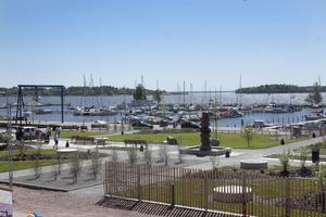 Söderläge. Den nya kapellparken ska bli en ny samlingsplats för västeråsarna, för dem som älskar solen och närheten till sjön.Foto: Daniel Gustafsson
