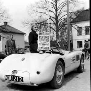 Ett foto från KAK:s Hedemoralopp som höll 1954 och som Ingvar Vestlund bevakade för Aftonbladets räkning.
