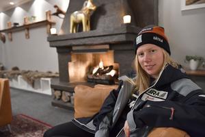 Sandra Näslund är redo för helgens finaler i världscupen i ski cross på Idre Fjäll.