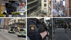 Fyra dödades och 15 skadades vid ett misstänkt terrorbrott i Stockholm under fredagen.