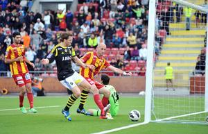Målskytt mot AIK i allsvenskan 2013...
