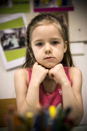 Joline Skogsäter, 6 år, Fjällängens skola i Torvalla: