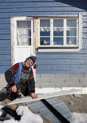 När ST träffade Seidi för fem år sedan höll hon på för fullt med timmerhuset i Stocka. Än i dag återstår en del detaljer, men huset är fullt beboeligt.