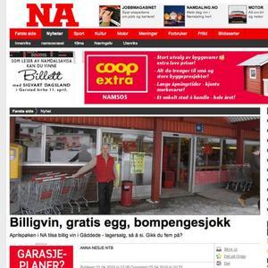 Den norska dagstidningen Namdalsavisa publicerade en annons på sin hemsida om att Ica Gränsbua i Gäddede hade utförsäljning av lådvin till halva priset.