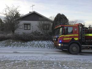En panna började ryka i en villa i Sörberge under onsdagen.