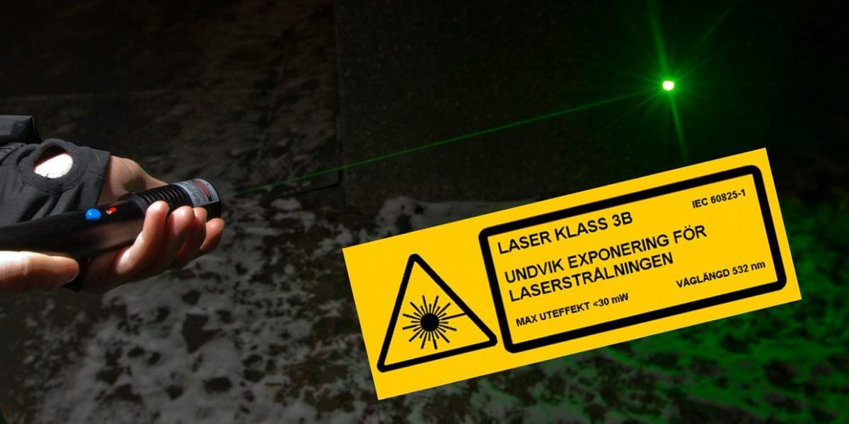 grön laser farlig
