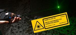 Starka laserpekare kan orsaka permanenta skador på ögat.