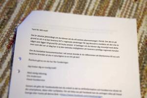 I detta mejl säger Viasats kundtjänst att Ingvar Eriksson inte kan häva avtalet på grunda av att SVT:s lokala nyheter inte ingår i utbudet.