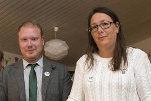 Robert Thunfors och Lotta Borg, talespersoner för Nätverk Timrå, är glada och nöjda över resultatet partiet presterade i valet till kommunfullmäktige i Timrå.