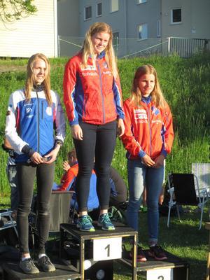 Pallen i D21. Med Rehns BK:s Kristin Olovsson som etta.