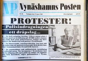Beslutet att sommartid flytta poliser från Nynäshamn till Handen väckte protester.