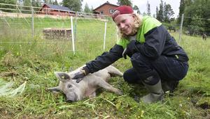 – Jag tänker visa att det går att ta tillvara på allt. Det vi inte äter ska gå till grisarna eller komposten som sedan ger jord till nya grönsaker, säger Emil Bertilsson.