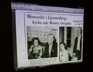 Reportaget om klubbstarten i Bergslagsposten från 1953.