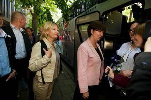 På turné. Marita Ulvskog och Mona Sahlin satsar i valet.