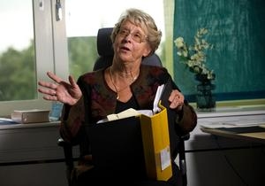 Stasiforskaren Birgitta Almgren tvingades förstöra minnesanteckningarna från sitt forskningsprojekt.Foto: Henrik Montgomery