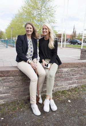 Jessica Flodin, personalkonsult på Min Byrå och adepten Johanna Eldh som har ett år kvar på Personalvetarlinjen kommer väl överens och har haft många roliga och lärorika stunder tillsammans.