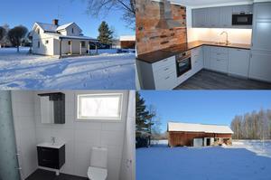 På Uppsjövägen i Avesta ligger ett litet hus med tre rum. På gården finns även ett uthus.