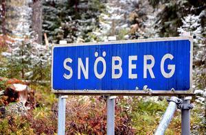 Snöberg, klassisk tidig vintermark.