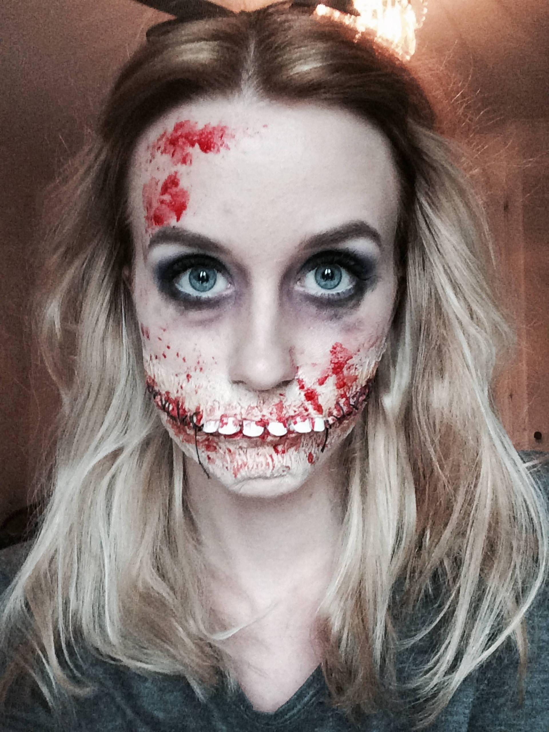 Lina sveriges laskigaste halloweensminkning