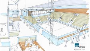 Innebandygryta. Den nya innebandyhallen beräknas få en publikkapacitet på 1 500 åskådare.