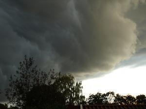 passade på med kameran då stormen drog fram häromdagen