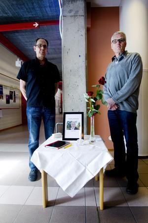 Stefan Andersson och Jan-Erik Lagerström är rektorer på Björkhagsskolan. Just nu har de fullt upp med att stödja lärarna. – Och lärarna i sin tur måste ge eleverna stöd, säger Stefan Andersson.