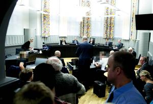 Arkivbild från tidigare rättegång i Mora Tingsrätt.