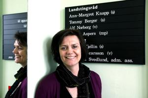 Hannah-Karin Linck, Centerpartiets landstingsråd.