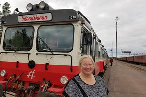 – Det här med fisketåget är klockrent. Det finns en möjlighet. Det kan inte bli mycket bättre, säger Eva Palmgren, TF chef för Inlandsbanans persontrafik.
