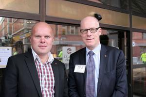 Håkan Roos, BNI-konsult och Gunnar Selheden, Nordenchef för affärsnätverket BNI.Foto: Karin Bångman