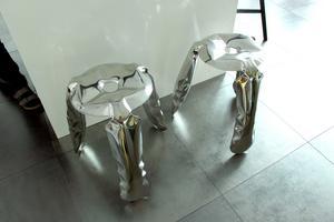 Pallar i stål med uppblåsbar form.