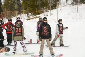 Piece Of Cake lockade både rutinerade snowboardrävar och mer oerfarna åkare.