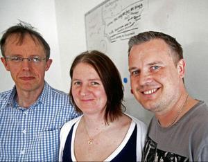 Tomas Sundin, Lotta Lingblom-Lööf och Ola Lindgren är de tre historielärare på Storsjöskolan som jobbat med det tvååriga projektet kring andra världskriget som nu resulterar i en bok med elevernas arbeten.