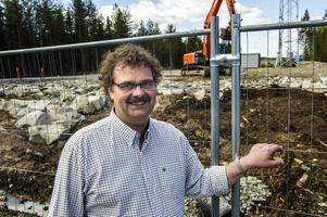 Kalle Frölander är projektchef för Nordisk Vindkraft AB. Han har huvudansvaret för att Sidensjö vindkraft ska vara i drift i februari nästa år.