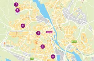 Södertälje kommun har kartlagt vilka områden som går att förtäta. Nu håller så kallade strukturplaner på att tas fram för varje område för att få ett helhetsgrepp om var det ska vara bostäder, grönyta samt service som exempelvis skolor innan man börjar med detaljplanerna. C är strukturplanen för Södra som är utanför kartans utsnitt.