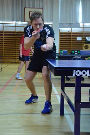 Pålsboda GOIFs Jimmy Bergström var en av fyra spelare som såg till Pålsbodalaget fick med sig en seger och en oavvgjord match. BILD: JAN WIJK
