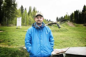 Kenneth Einars är ordförande i Alfta bike park, en förening som bildades 2007.