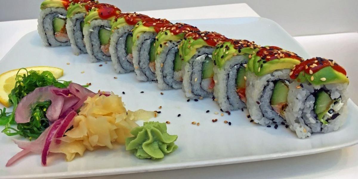 Sushi en lisa för själen i shoppinghetsen