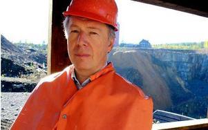 Gunnar Sköndahl, vd i Stiftelsen Falu Gruva, är bekymrad över svampangreppen i besöksgruvans ingångar som kostat runt två miljoner att bygga. Foto: Bengt Pettersson