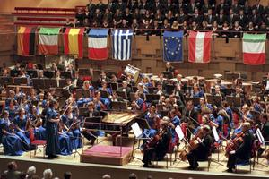 European Union Youth Orchestra. Arkivbild.