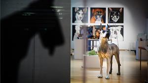Temat för årets julpyssel på Konstverkstan är hundar.