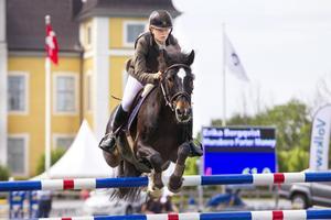 Erika Bergqvist på hästen Munsboro Porter Money.