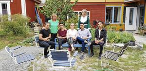 Bodil Valero med Margareta Sidenvall och Britt-Marie Thelin, Shoiab Nasari, Ruhollah Amini, Qasim Ahmad och iJavid Hasani.