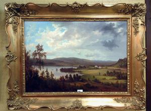 Landskap med herrgård av Albert Blombergsson.