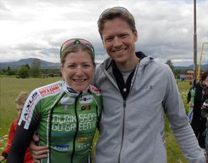 Jennie Stenerhag och pojkvännen Craig Gerber blev trea i en tuff MTB-tävling i Sydafrika.