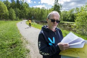 Nuvarnde spår ska breddas för att även cyklar ska få plats. Lars Fahlberg på Sundsvalls kommun är projektledare.