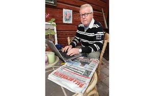 – Som krönikör kan jag vara friare än när jag skriver partipolitiska ledare, säger Christer Gruhs. Foto: Curt Kvicker