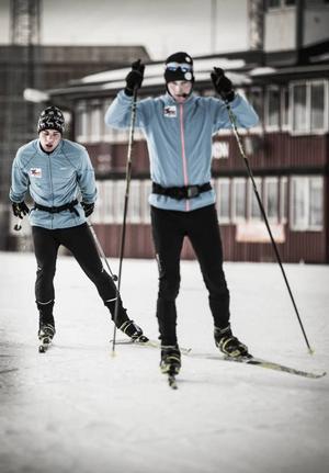 Zebastian Modin, 19 år, och Albin Ackerot, 25 år, började träna tillsammans 2008. Ett brons från Paralympics i Vancouver 2010 är främsta meriten.