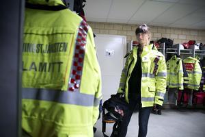 Mikaela Warberg är räddningsingenjör vid Räddningstjänsten Dala Mitt.