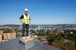 Höghusets läge, men utsikt över stan och Sundsvallsbron är det som ska locka hyresgäster.